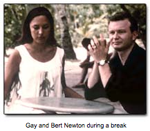 Gay and Bert Newton during a break